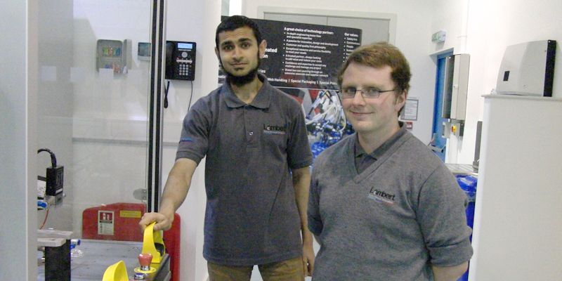 Mohammed Patel and Matthew Warburton, undergraduate students in the Faculty of Engineering at the University of Leeds