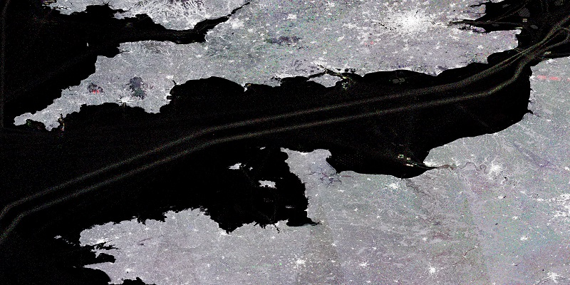 Satellite image of the English Channel
