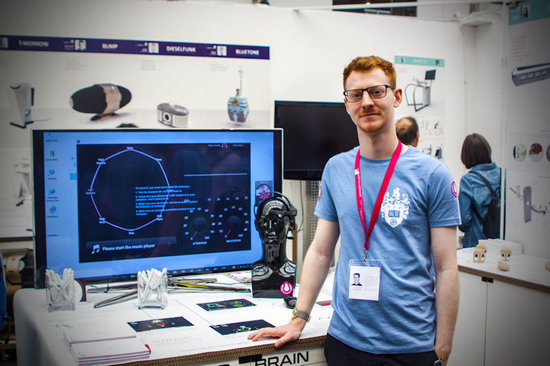 Product Design student Josh with his project at New Designers