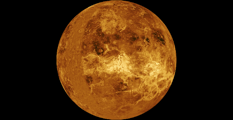 Computer simulated global image of Venus