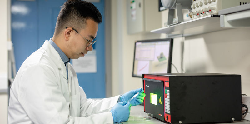 Xingtian investigating the properties of material for a tactile sensor