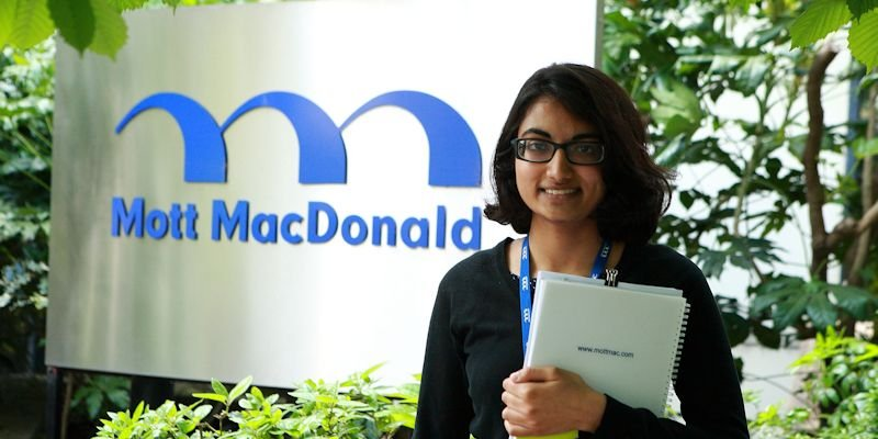 Student on placement at Mott MacDonald