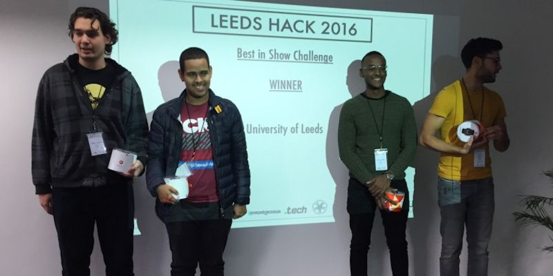 Computing students win Hackathon challenge