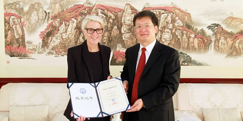 Professor Anne Neville visits China University of Petroleum