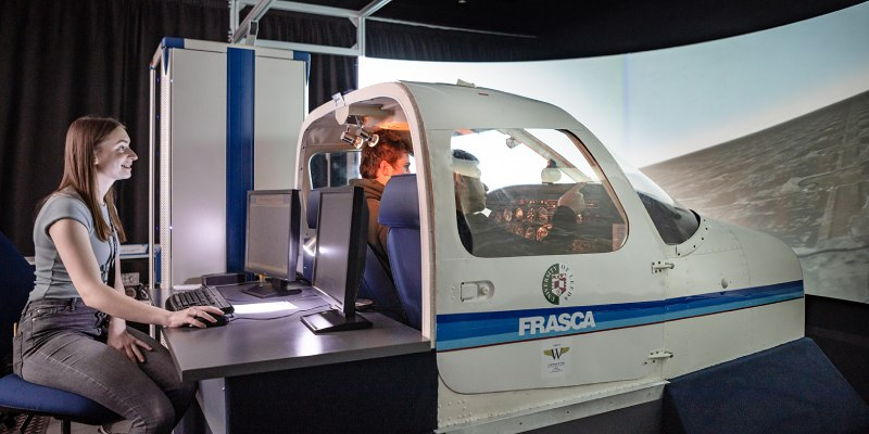 University of Leeds flight simulator