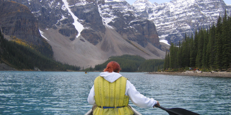 Study abroad, Kayaking on moraine lake