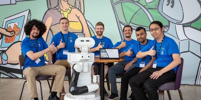 Coffee shop bot serves up a win for Leeds team at SciRoc Challenge