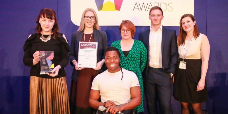 Mathematics and Physical Sciences Employability Team winners of national award