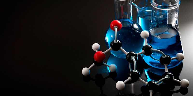 Image of molecule and solution