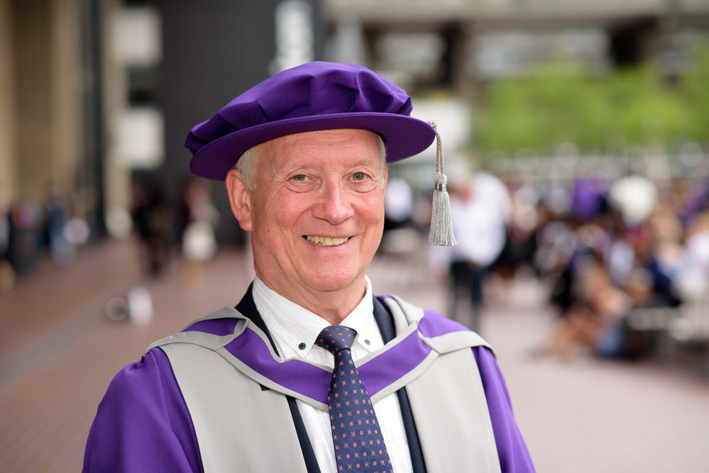 Professor Terry Wilkins receives honorary Doctorate of Technology