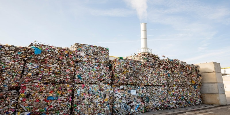 Image of stacks of waste