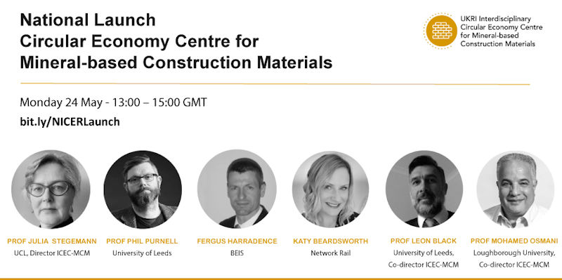 National launch of the Interdisciplinary Circular Economy Centre for Mineral-based Construction Materials