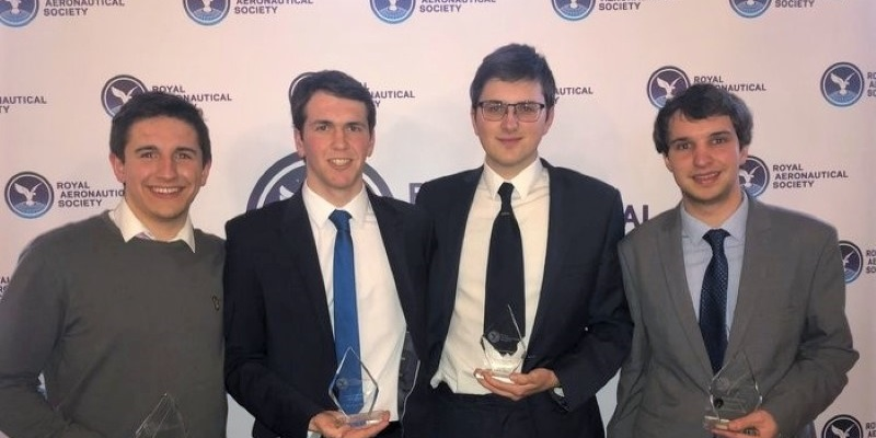 Aviation students win the Royal Aeronautical Society Aerochallenge