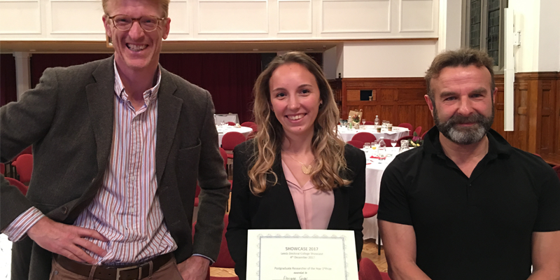 Applied Mathematics PhD student wins Postgraduate Researcher of the Year 2017 award