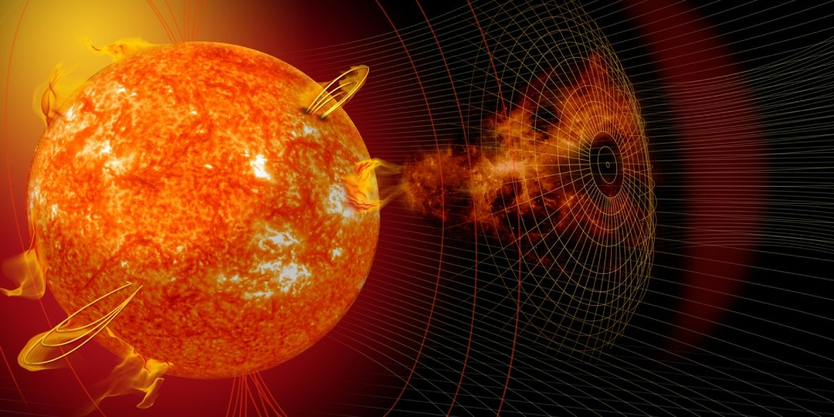 Solar storm from the sun