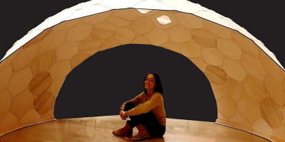 Dr Ornella Iuorio with the ECHO shell