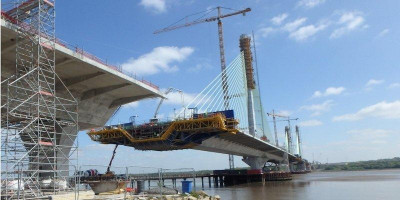 Mersey Gateway Bridge in construction