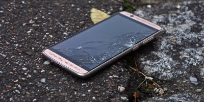 Mobile phone smashed