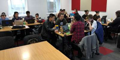 Students at the Computing Society's 2019 Hackathon
