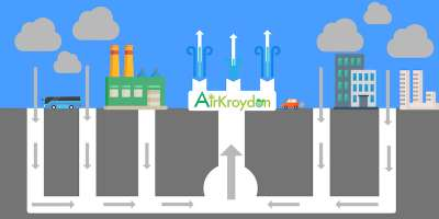 illustration of team airkroydon's carbon capture project in recent cleantech challenge competition