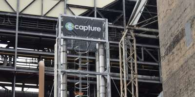 C-Capture logo in power plant