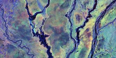 Satellite image of peatlands in the Congo