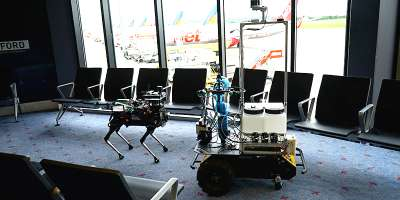 Robots being used to fight coronavirus in Leeds Bradford Airport