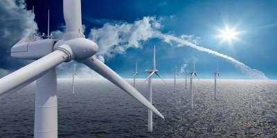 Wind turbines in sea image for Leeds-Lyon Symposium