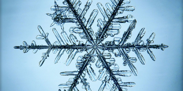 A snowflake, representing research into crystallisation and directed assembly