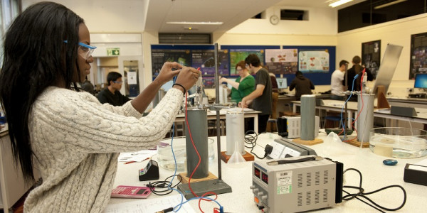 Students enjoying a physics summer school at the University of Leeds