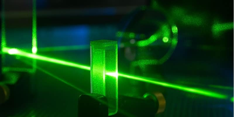 green photonic laser beam